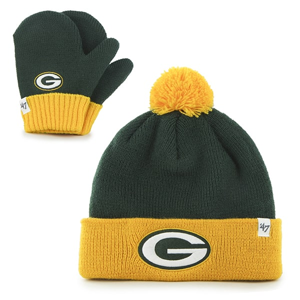Green Bay Packers Bam Bam Set Dark Green 47 Brand INFANT Hat