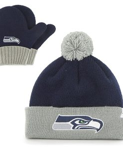 Seattle Seahawks Bam Bam Set Light Navy 47 Brand INFANT Hat
