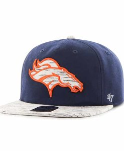 Denver Broncos Bluster Captain Rf Light Navy 47 Brand Adjustable Hat