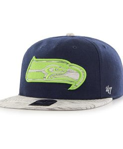 Seattle Seahawks Bluster Captain Rf Light Navy 47 Brand Adjustable Hat