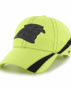 Carolina Panthers Breaker Clean Up Neon Yellow 47 Brand Adjustable Hat