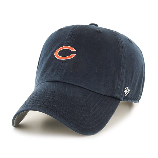 Chicago Bears Base Runner Clean Up Navy 47 Brand Adjustable Hat