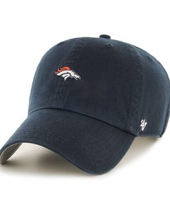 Denver Broncos Base Runner Clean Up Navy 47 Brand Adjustable Hat