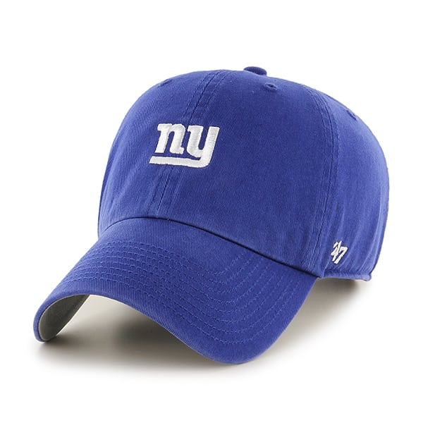 New York Giants 47 Brand Base Runner Blue Clean Up Hat