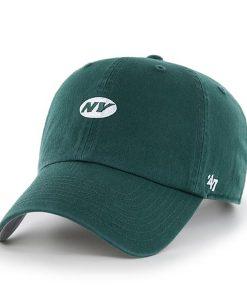 New York Jets Base Runner Clean Up Dark Green 47 Brand Adjustable Hat