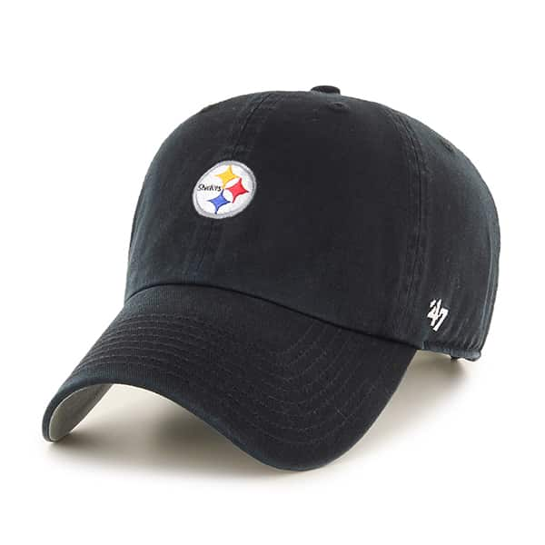 Pittsburgh Steelers Base Runner Clean Up Black 47 Brand Adjustable Hat