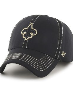 New Orleans Saints Battalion MVP Black 47 Brand Adjustable Hat