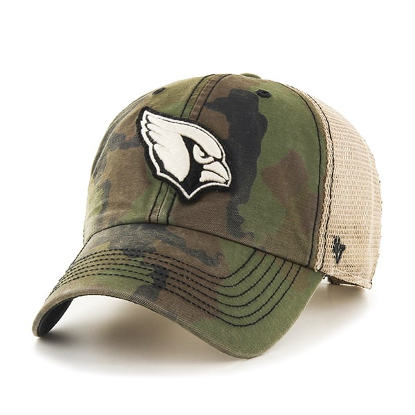 Arizona Cardinals Burnett Clean Up Frontline Green Camo 47 Brand Adjustable Hat