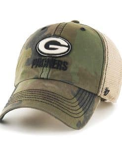 Green Bay Packers Burnett Clean Up Frontline Green Camo 47 Brand Adjustable Hat