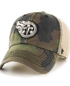 Tennessee Titans Burnett Clean Up Frontline Green Camo 47 Brand Adjustable Hat
