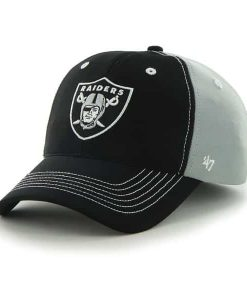 Oakland Raiders Carson Closer Steel Grey 47 Brand Stretch Fit Hat