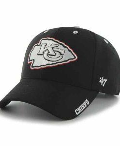 Kansas City Chiefs Condenser MVP Black 47 Brand Adjustable Hat
