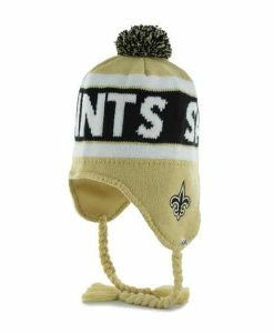 New Orleans Saints Cranbrook Knit Light Gold 47 Brand Adjustable Hat