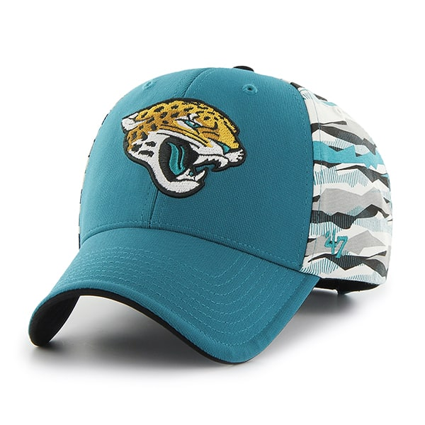 Jacksonville Jaguars Carrier MVP Dark Teal 47 Brand Adjustable Hat