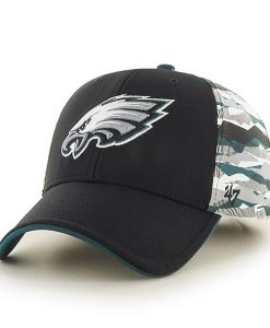 Philadelphia Eagles Carrier MVP Black 47 Brand Adjustable Hat