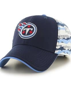 tennessee Titans Carrier MVP Light Navy 47 Brand Adjustable Hat