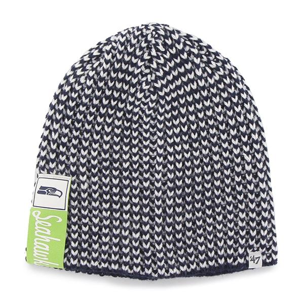 Seattle Seahawks Cynthia Beanie Light Navy 47 Brand Womens Hat