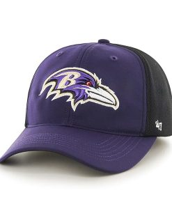 Baltimore Ravens Draft Day Closer Purple 47 Brand Stretch Fit Hat