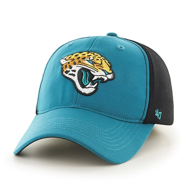 Jacksonville Jaguars Draft Day Closer Dark Teal 47 Brand Stretch Fit Hat