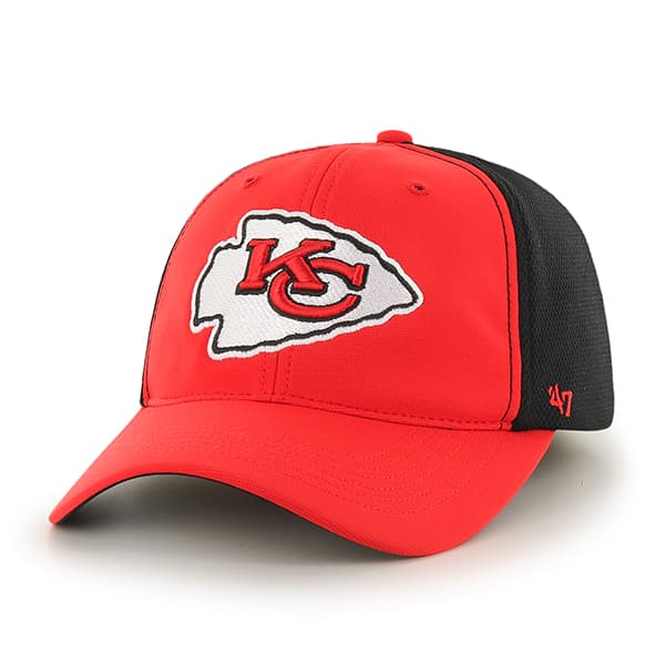 Kansas City Chiefs Draft Day Closer Torch Red 47 Brand Stretch Fit Hat