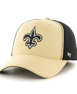 New Orleans Saints Draft Day Closer Light Gold 47 Brand Stretch Fit Hat