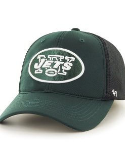 New York Jets Draft Day Closer Dark Green 47 Brand Stretch Fit Hat