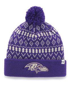 Baltimore Ravens Eileen Cuff Knit Purple 47 Brand Womens Hat