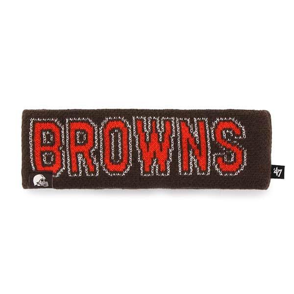Cleveland Browns Ellie Headband Brown 47 Brand