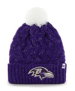 Baltimore Ravens Fiona Cuff Knit Purple 47 Brand Womens Hat