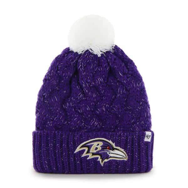 Baltimore Ravens Fiona Cuff Knit Purple 47 Brand Womens Hat