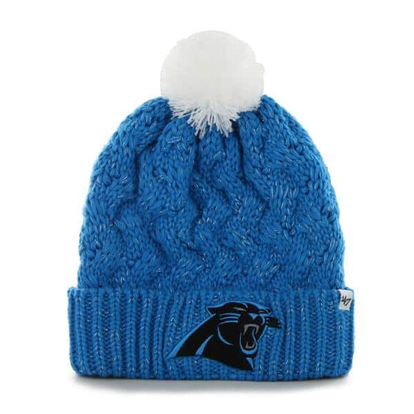 Carolina Panthers Fiona Cuff Knit Glacier Blue 47 Brand Womens Hat