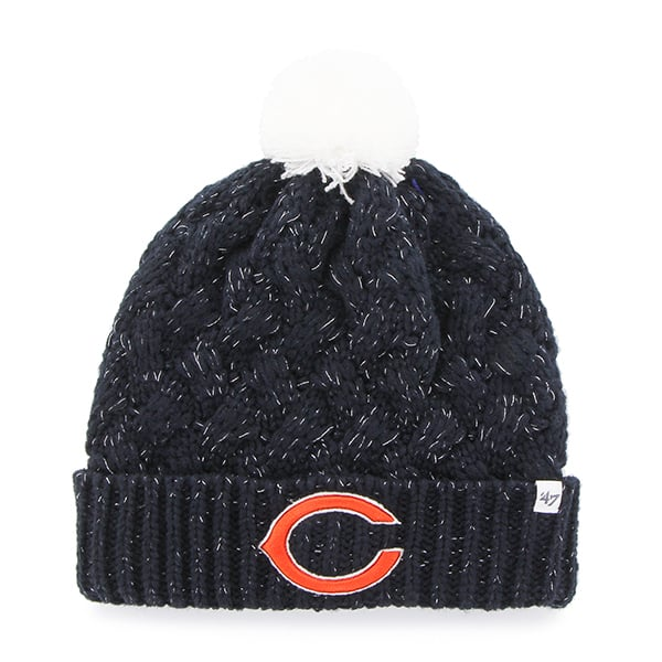 chicago bears fiona cuff knit navy 47 brand womens hat