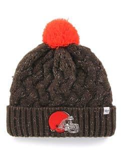 Cleveland Browns 47 Brand Women's Brown Fiona Cuff Knit Hat