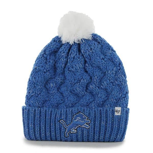 Detroit Lions Fiona Cuff Knit Blue Raz 47 Brand Womens Hat