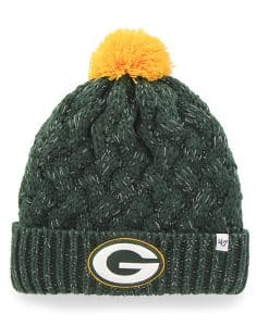 Green Bay Packers Fiona Cuff Knit Dark Green 47 Brand Womens Hat