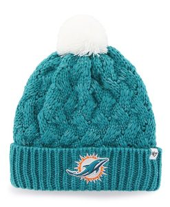 Miami Dolphins Fiona Cuff Knit Neptune 47 Brand Womens Hat