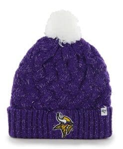 Minnesota Vikings Fiona Cuff Knit Purple 47 Brand Womens Hat