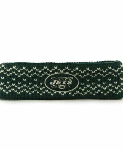 New York Jets Fair Isle Headband Dark Green 47 Brand Womens