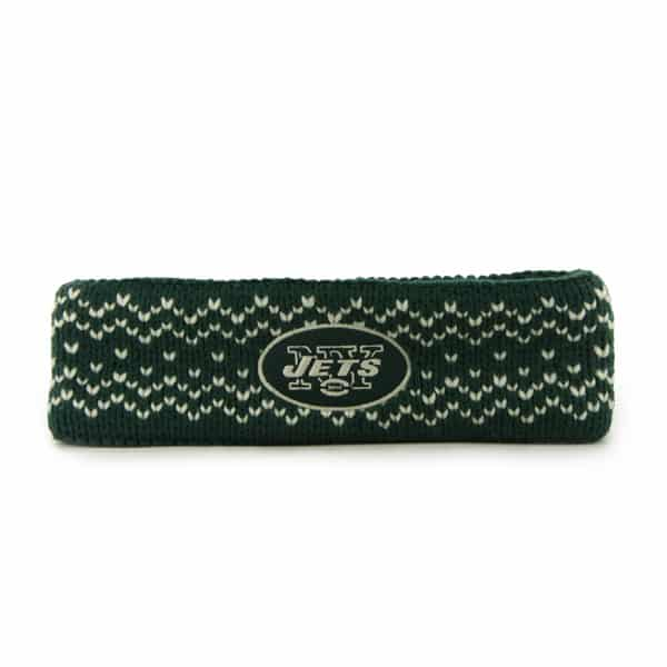New York Jets Fair Isle Headband Dark Green 47 Brand Womens ...