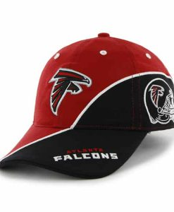 Atlanta Falcons Full Block Red 47 Brand Stretch Fit Hat