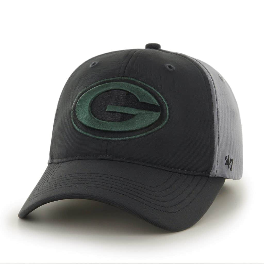 Green Bay Packers Feldspar Closer Dark Gray 47 Brand Stretch Fit Hat
