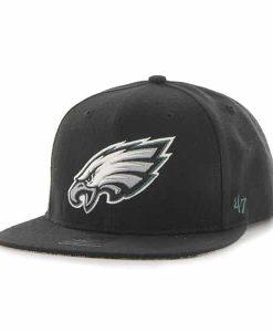 Philadelphia Eagles Fulton Captain Black 47 Brand Adjustable Hat