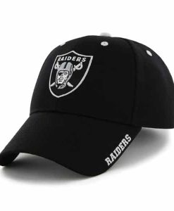 Oakland Raiders Frost Black 47 Brand Adjustable Hat