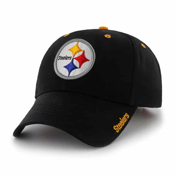 Pittsburgh Steelers Frost Black 47 Brand Adjustable Hat