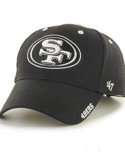 San Francisco 49ers Frost Black 47 Brand Adjustable Hat