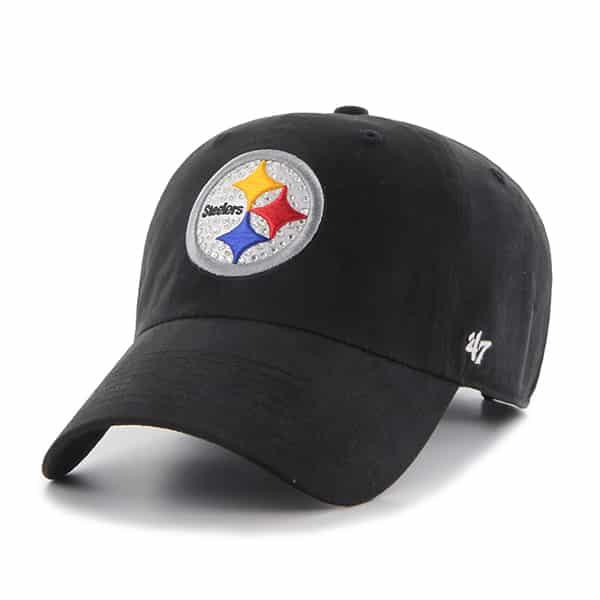 Pittsburgh Steelers Gemstone Clean Up Black 47 Brand Womens Hat
