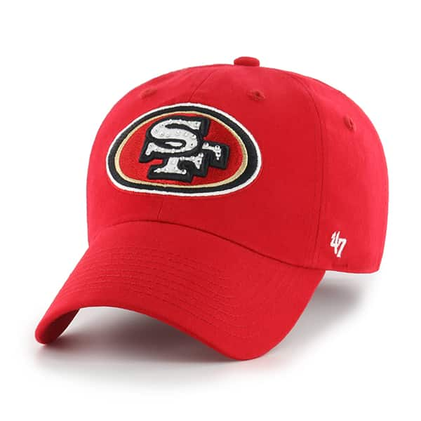 San Francisco 49ers Gemstone Clean Up Red 47 Brand Womens Hat