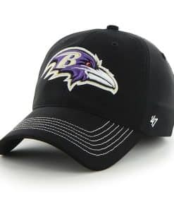 Baltimore Ravens Game Time Closer Black 47 Brand Stretch Fit Hat
