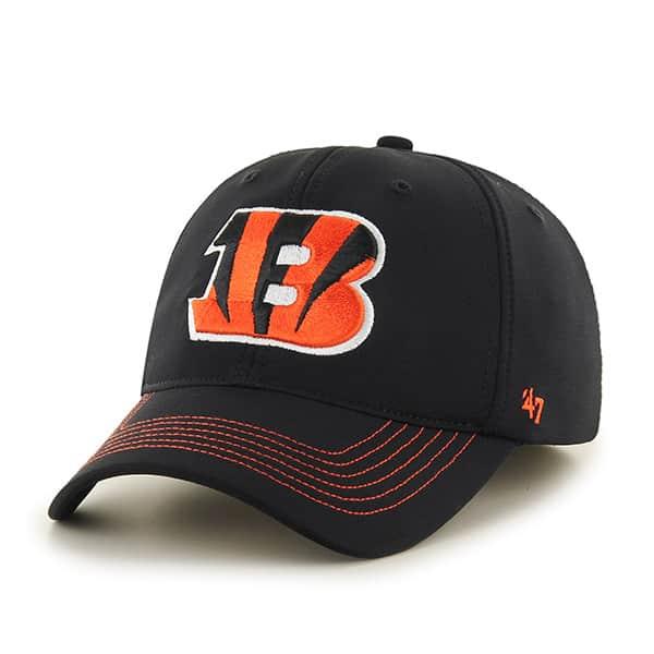 Cincinnati Bengals Game Time Closer Black 47 Brand Stretch Fit Hat