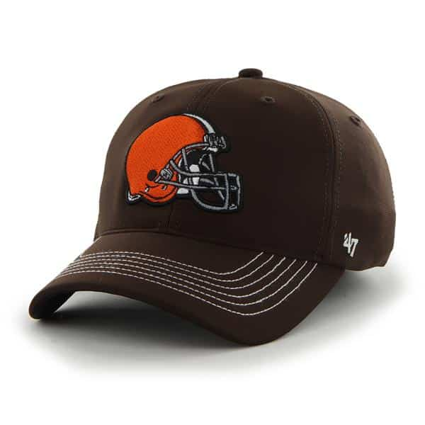 Cleveland Browns Game Time Closer Brown 47 Brand Stretch Fit Hat